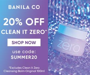 Banila Co 20% Summer Sale